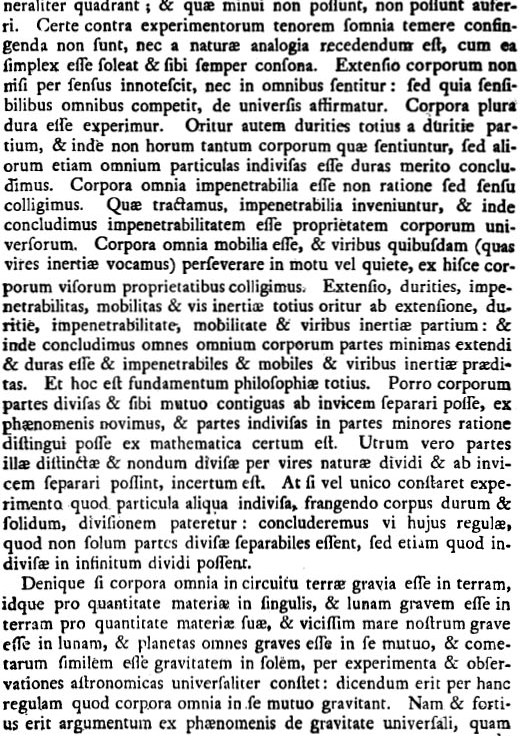 Newton Regulae Philosophandi III continued